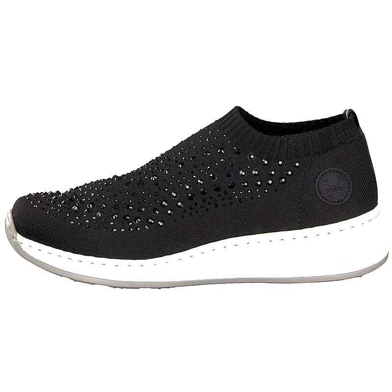 N5532-00 Black sporty slip on sneaker