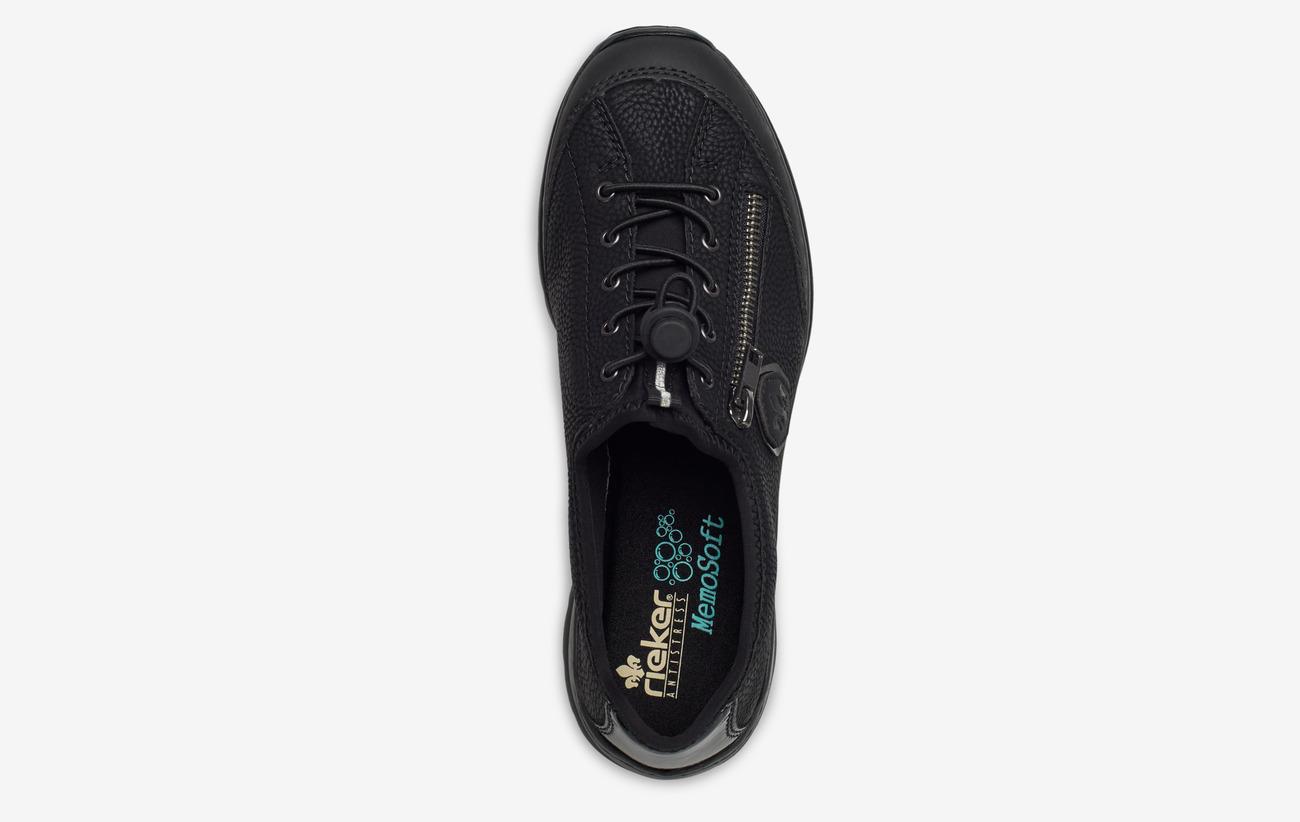 L3263-00 Black Rieker slip on shoe