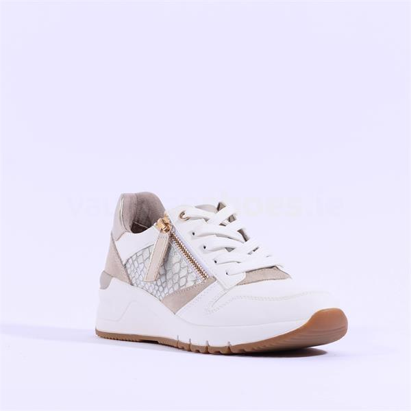 23702-26 Tamaris white laced wedge with side zip