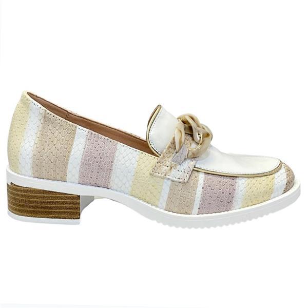 2146 Jose Saenz beige slip on loafer