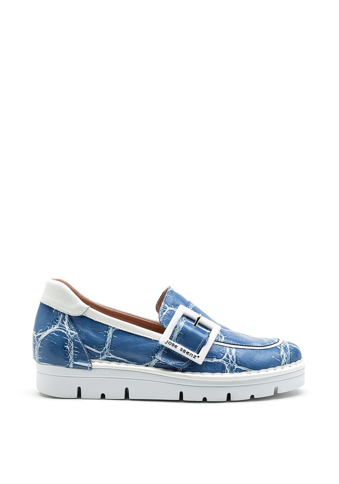 2017 Jose Saenz blue slip on shoe