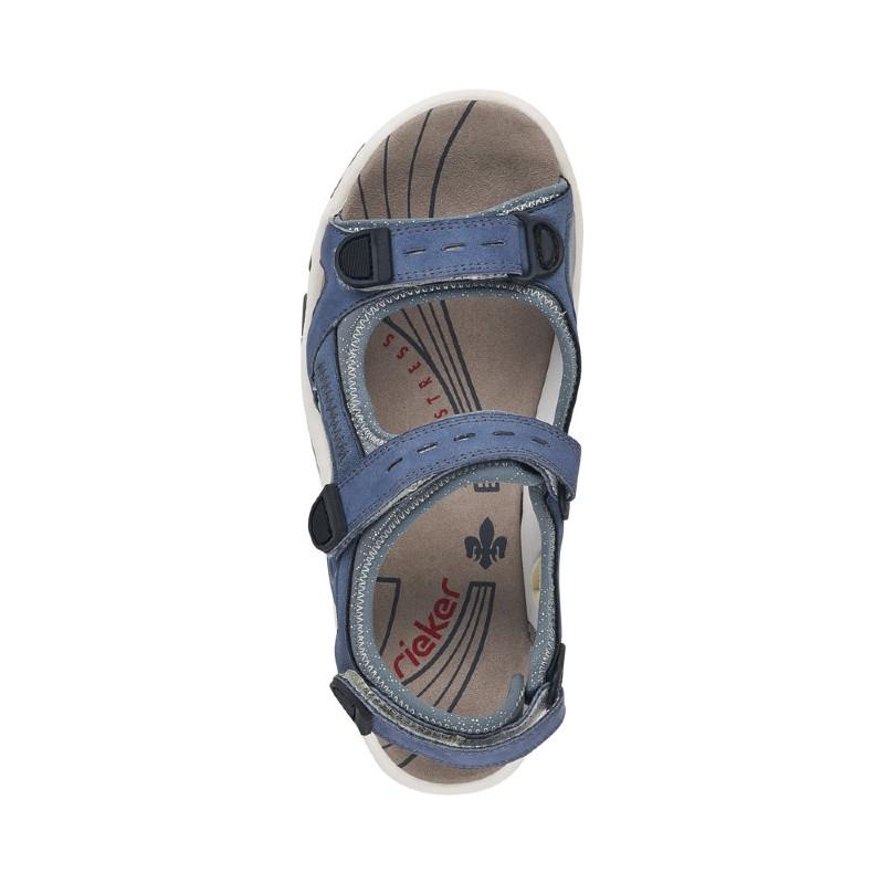 68874-14 Rieker blue sandals