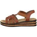 62918-22 Rieker brown wedge sandals