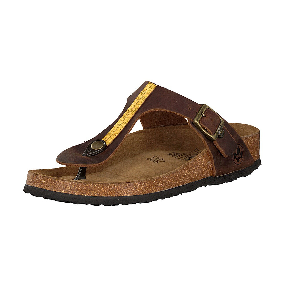 V9481-25 Rieker brown toe post sandal