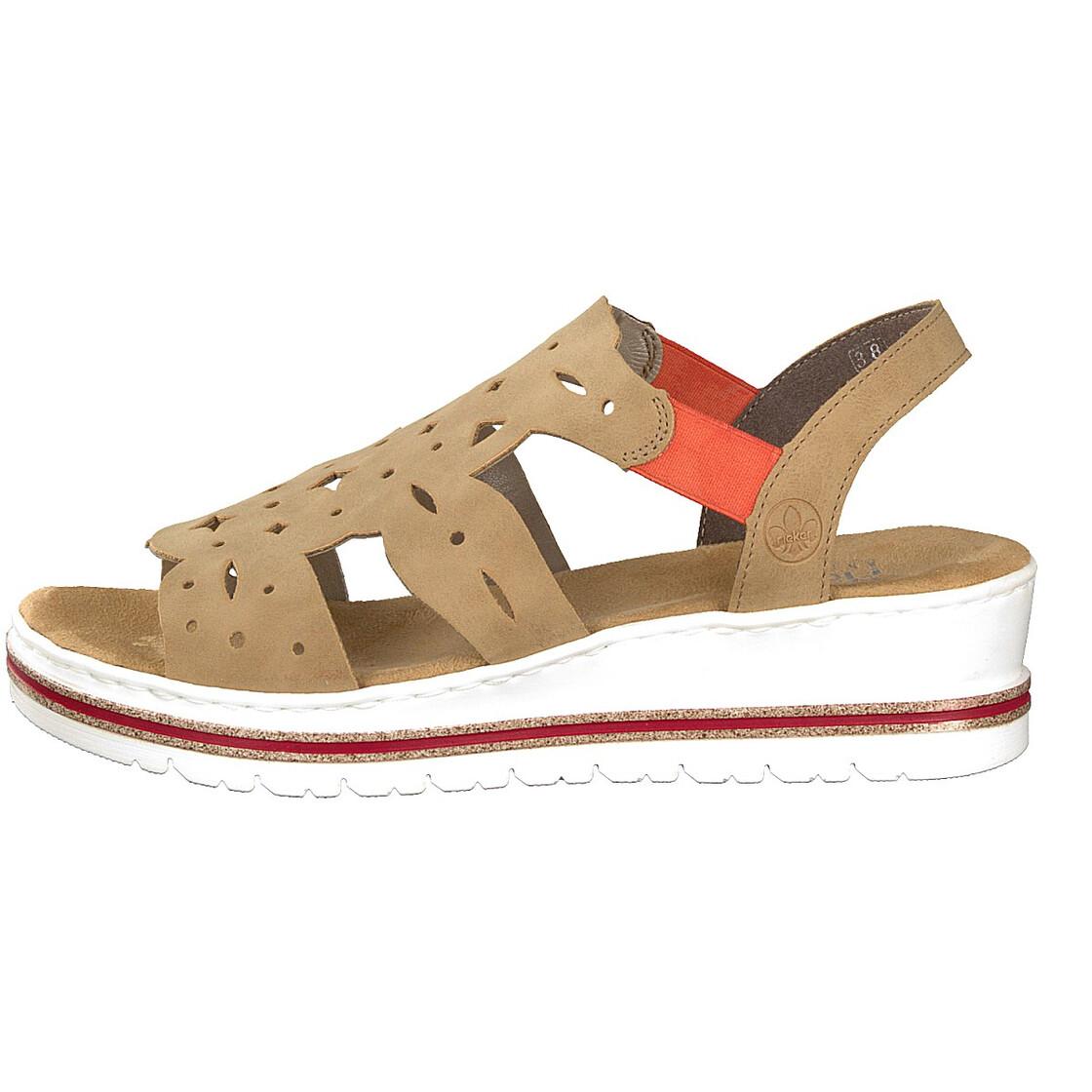V5857-60 Rieker sand wedge sandals