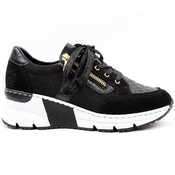 N6303-00 Black wedge trainers