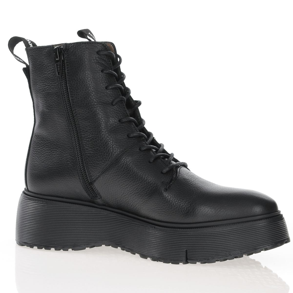 Wonders A-9350 black laced platform boot