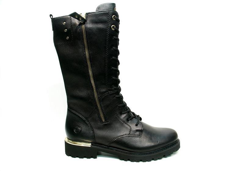 Remonte D8689-01 black long boot