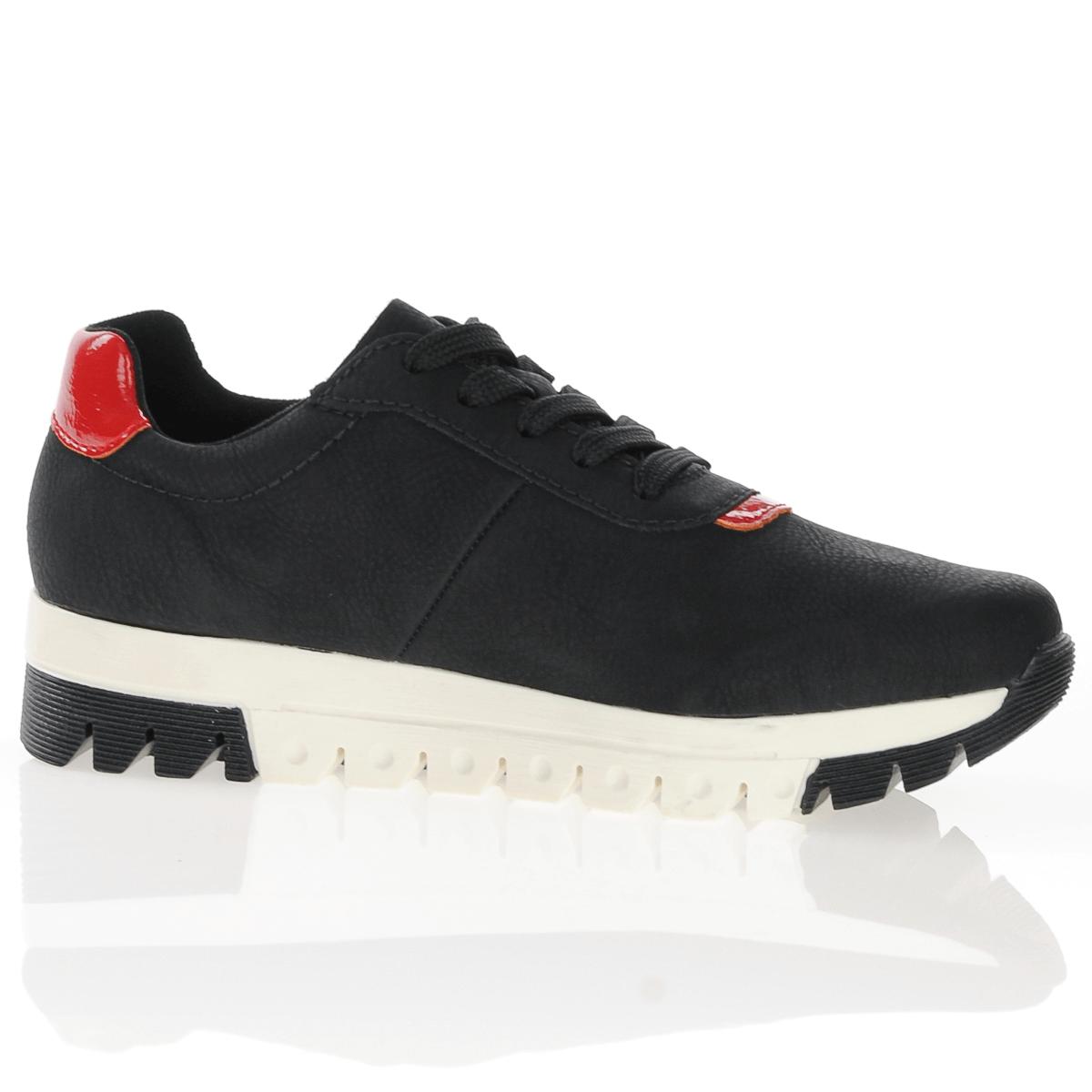 Rieker L2904-00 black lace-up trainers