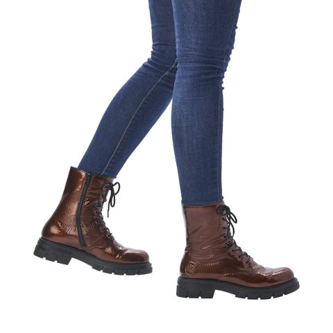 Z9120-25 Rieker laced-up brown boot