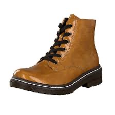 Rieker 76240-68 lace-up yellow boot