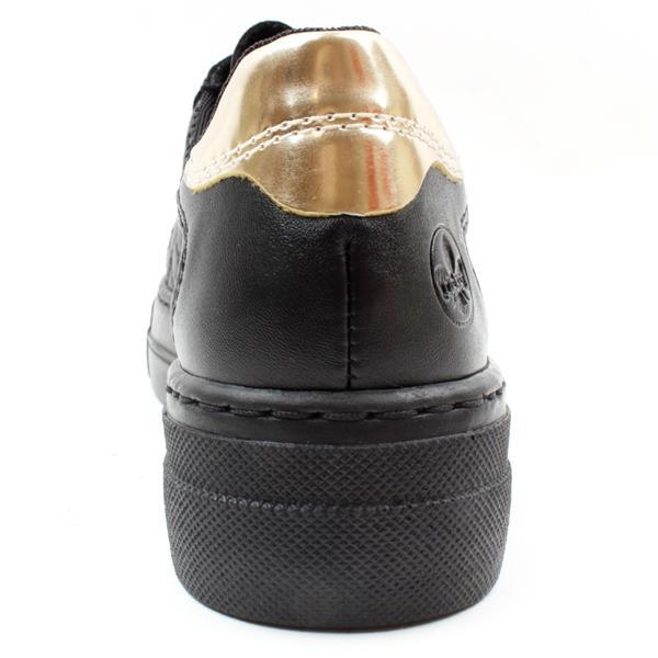 Rieker N4904-00 black laced shoe
